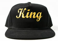 Picture of 100% Cotton King and Queen Snapbacks Pair