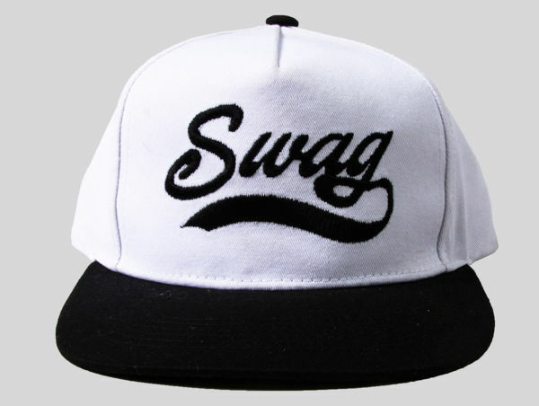 Picture of 100% Cotton B & W Swag Snapback