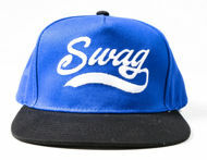 Picture of 100% Cotton Black & Blue Swag Snapback