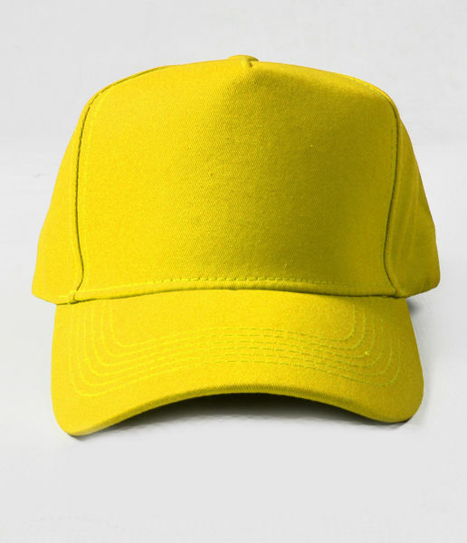 Picture of 100% Cotton Yellow Baseball Cap