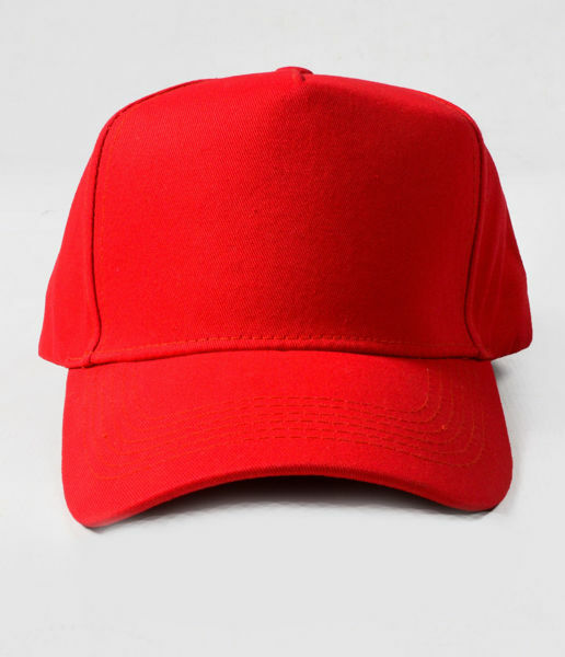 Picture of 100% Cotton Red Baseball Cap