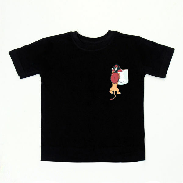 Picture of Fashionable T-Shirt with Lion King Pocket in Black or White