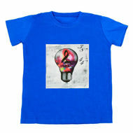 Picture of T-Shirt with Pop Art in Blue
