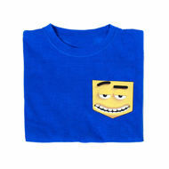 Picture of Fashionable T-Shirt with Smiley Pocket in Black or Blue