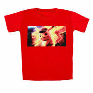 Picture of Trendy Pikachu T-Shirt in Red