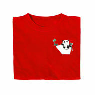 Picture of Edgy Panda Pocket T-Shirt in Red