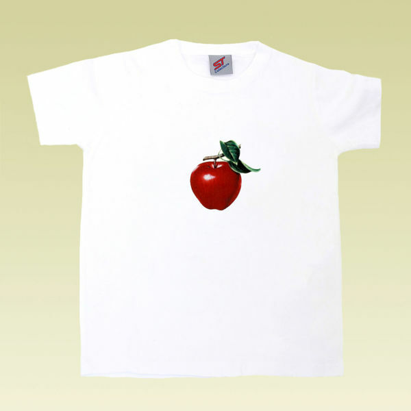 Picture of Nice T-Shirt with Apple Print in White