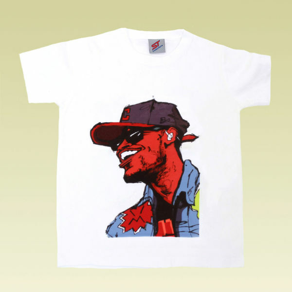 Picture of Edgy Pop Art  T-Shirt in White