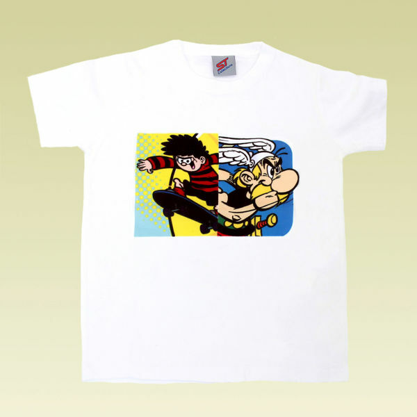 Picture of T-Shirt with Asterix Print in White