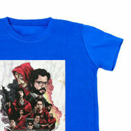 Picture of Cool Money Heist T-Shirt in Black or Blue