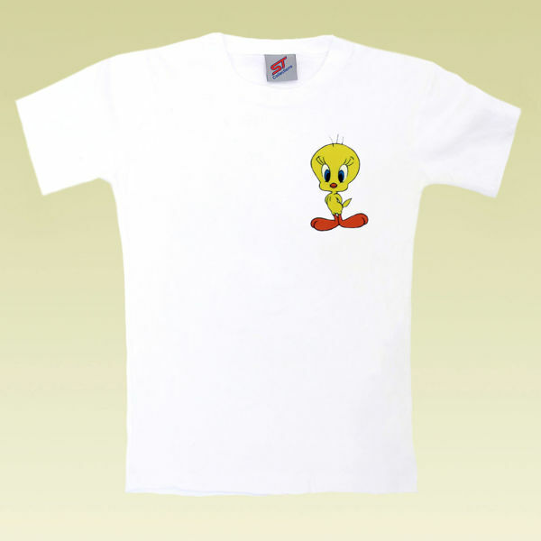 Picture of Stylish T-Shirt with Tweety Bird in Black or White