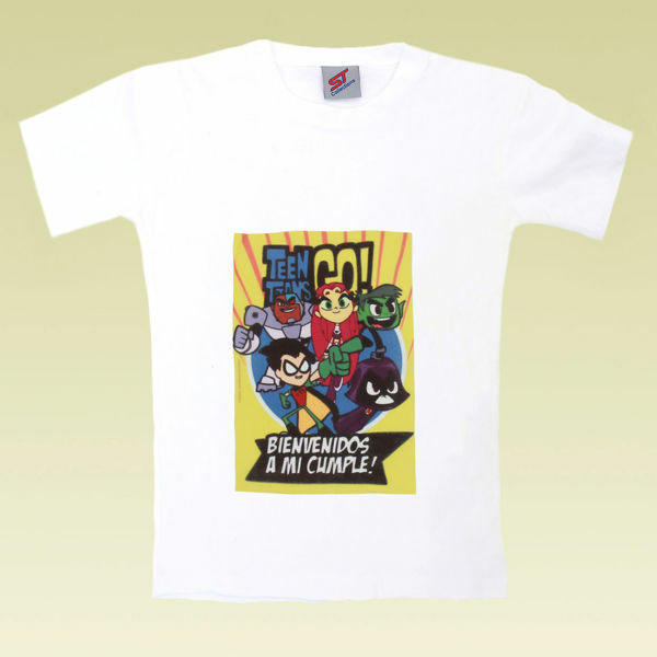 Picture of Edgy Teen Titans T-Shirt in White