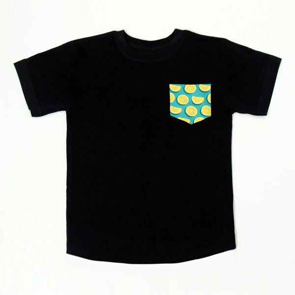 Picture of Nice T-Shirt with Oranges Pocket in Black