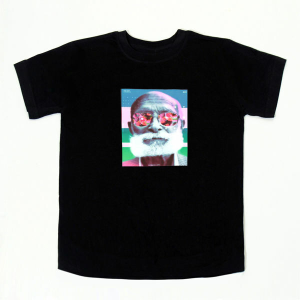 Picture of Trendy T-Shirt with Pop Art in Black
