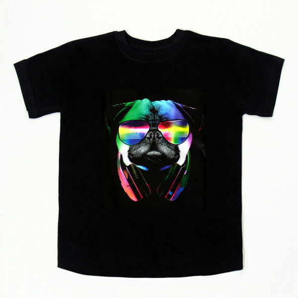 Picture of Cool Pug T-Shirt in Black