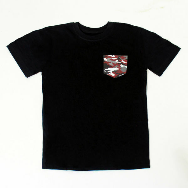 Picture of Fresh T-Shirt with Camouflage Pocket in Black