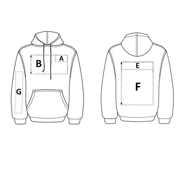 Picture of CUSTOM HOODIE READY FOR PRINTING