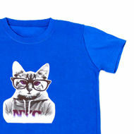 Picture of Cute Kitty T-Shirt in Blue
