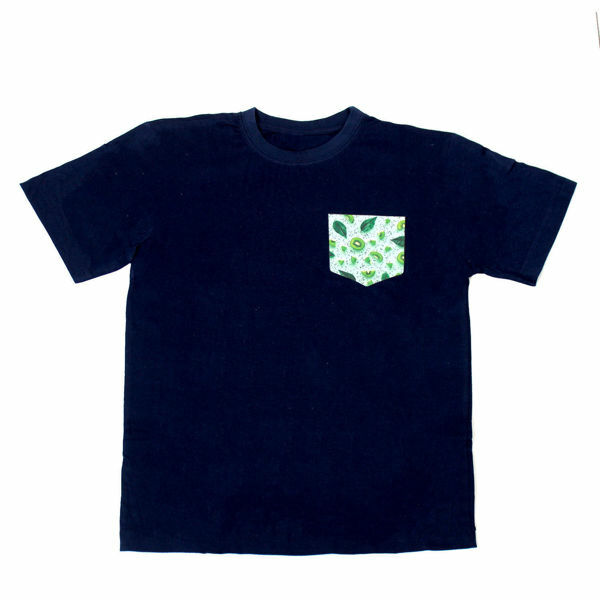 Picture of Nice T-Shirt with Kiwi Pocket in Black & Navy Blue